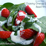 Creamy orange poppy seed dressing-mini