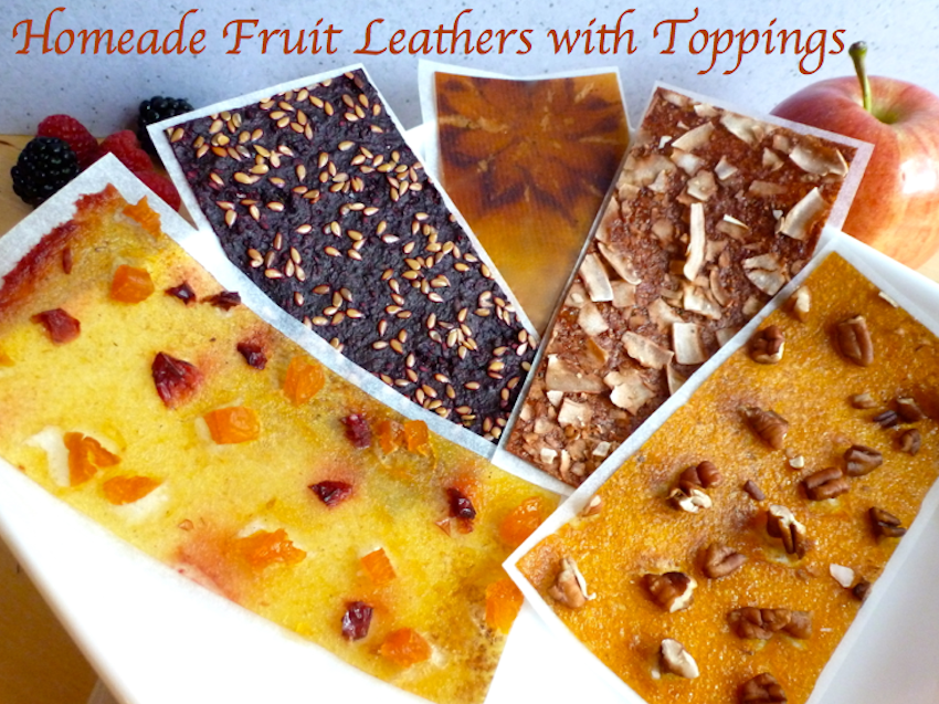 Homemade Fruit Leather with Toppings