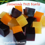 Gluten Free DAiry Free Homemade Fruit Snacks
