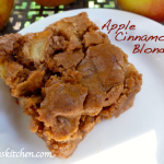 Gluten Free Dairy Free Apple Cinnamon Blondies