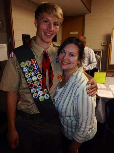My son, the Eagle Scout!