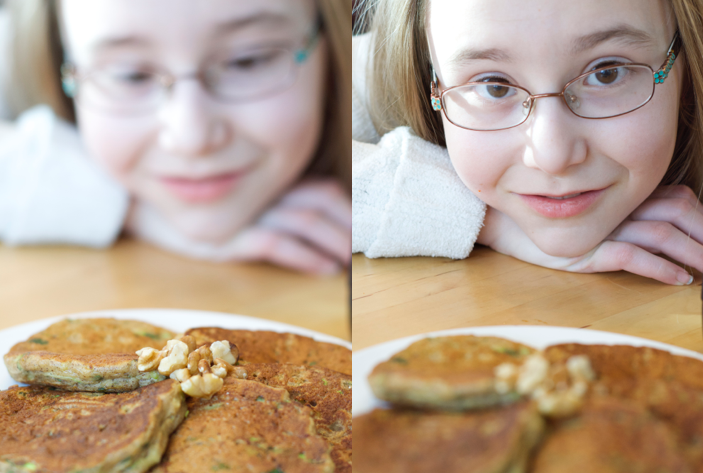 Feed your kitchen helpers the prettiest pancakes.